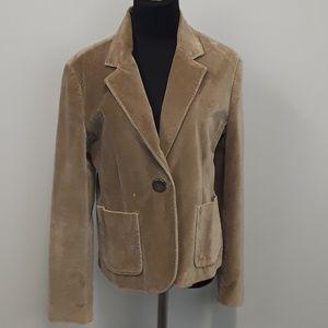 Gap plus size brown velvet blazer size 14